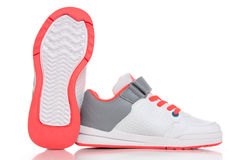 Close up of women's sport shoes on white background Stock Image