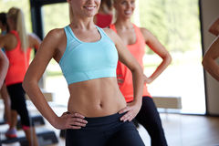 Close up of women working out in gym Stock Images