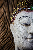 Close-up of a wood Buddha Stock Images