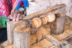 Close up wood craftmanship. Close up a wood craftmanship made by carpenter stock photos