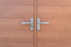 Close up of Wood door . Royalty Free Stock Photo