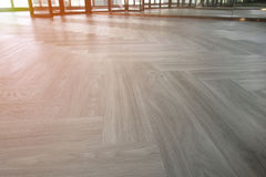 Close-up of a wood laminate floor in a new house Royalty Free Stock Image