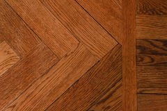 Close-up of a wood parquet. The texture of a wood parquet form a geometric composition Stock Photography