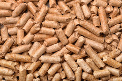 Close up of wood pellets Stock Photo