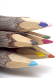 Close-Up of Wood Pencil Tips Stock Photo