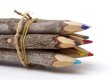 Close-Up of Wood Pencils Royalty Free Stock Photos