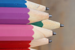 Close-up wood pencils. Royalty Free Stock Photography
