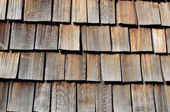 Close-up of the wood shingle roof Stock Images