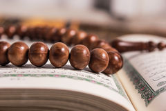 Close up of wood tasbih Stock Photography
