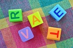 Wooden alphabet blocks Royalty Free Stock Photo