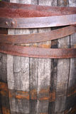 Close up wooden barrel texture background. Royalty Free Stock Photos