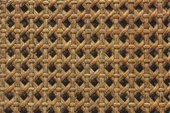 Close up of wooden basket made from ratten texture background. M. Aterial and nature conept. Wallpaper theme stock photo