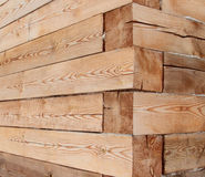 Close-up wooden beam. Corner of the house from a wooden beam Royalty Free Stock Images