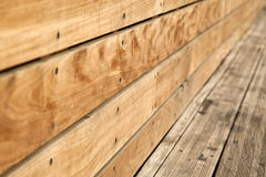 Wooden Bench Close Up Royalty Free Stock Image