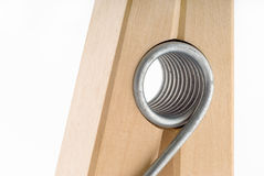 Close-up of wooden clothe spin Royalty Free Stock Images