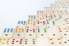 Close up wooden domino Royalty Free Stock Photography