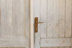 Close up of a wooden door Royalty Free Stock Photography