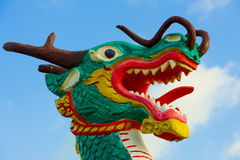 Close-up of a wooden dragon Royalty Free Stock Photography