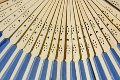 Close up of wooden fan blades Royalty Free Stock Photography
