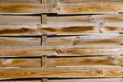 Close up of wooden fence Royalty Free Stock Photos