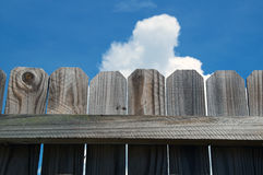 Close up of wooden fence against sky Stock Images