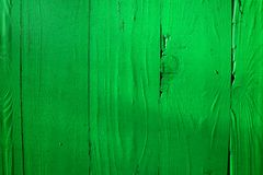 Close up of a wooden fence, cabin.Wooden texture, bright green colours. Stock Photography