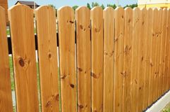 Wooden Fence Door. Cozy Wood Fence - Wood Fencing. royalty free stock photography