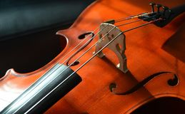 Close up of wooden fiddle