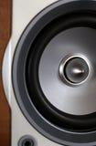 Close-up of wooden hi-fi loudspeaker Royalty Free Stock Image