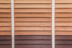 Close up of wooden jalousie window. Royalty Free Stock Photography