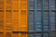 Colourful shutters Stock Photos
