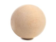 Close up of wooden sphere. Royalty Free Stock Photography