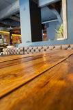 Close up of wooden table Royalty Free Stock Photography