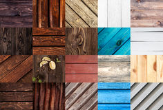 Close-up of wooden textures. Big set of wood backgrounds for web design. Part 2 Stock Images