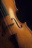 Close-up of a wooden violin Royalty Free Stock Photography