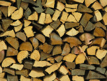 Close up of woodstore. Close up of a wood store in the Bavarian Alps Stock Photo