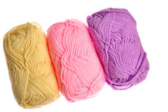Close up of wool knitting Stock Images