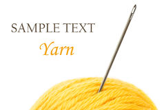 Close up of wool knitting on white background Stock Photography