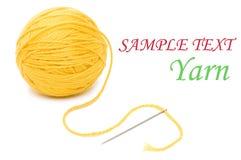 Close up of wool knitting on white background Stock Photo