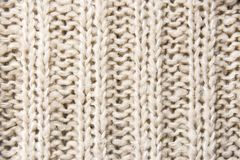 Close up of woolen knitted texture Royalty Free Stock Image