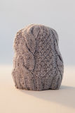 Close-up of wooly hat. Against white background Stock Photo