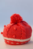 Close-up of wooly hat. Against white background Royalty Free Stock Photos