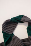 Close-up of wooly scarf. On white background Royalty Free Stock Image