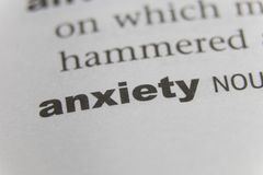 Close up of the word anxiety.  Stock Photography