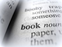 The Word `Book` in Black and White royalty free stock photography