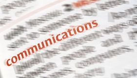 Close-up of the  word Communication Royalty Free Stock Photo