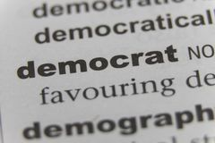 Close up of the word democrat.  Royalty Free Stock Photo