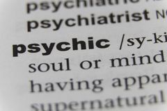 Close up of the word psychic.  royalty free stock images