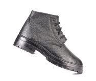 Close up of working boot. Royalty Free Stock Image