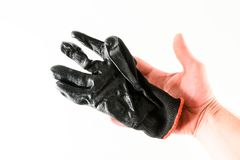 Close-up of working glove. Object on a White Background Stock Images